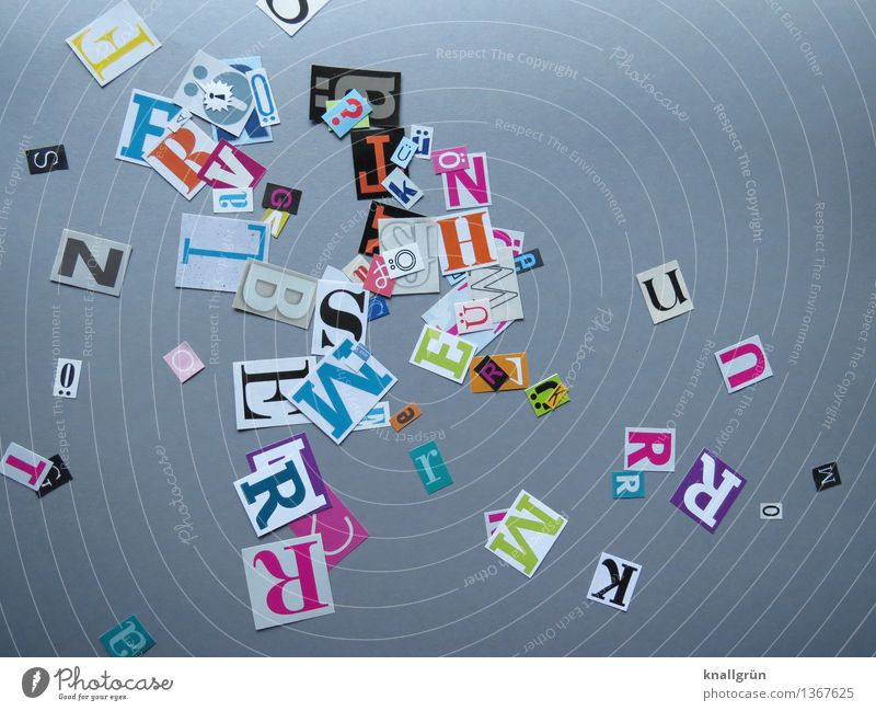 Gray Characters Creativity Communicate Inspiration Sharp-edged Latin alphabet Capital letter