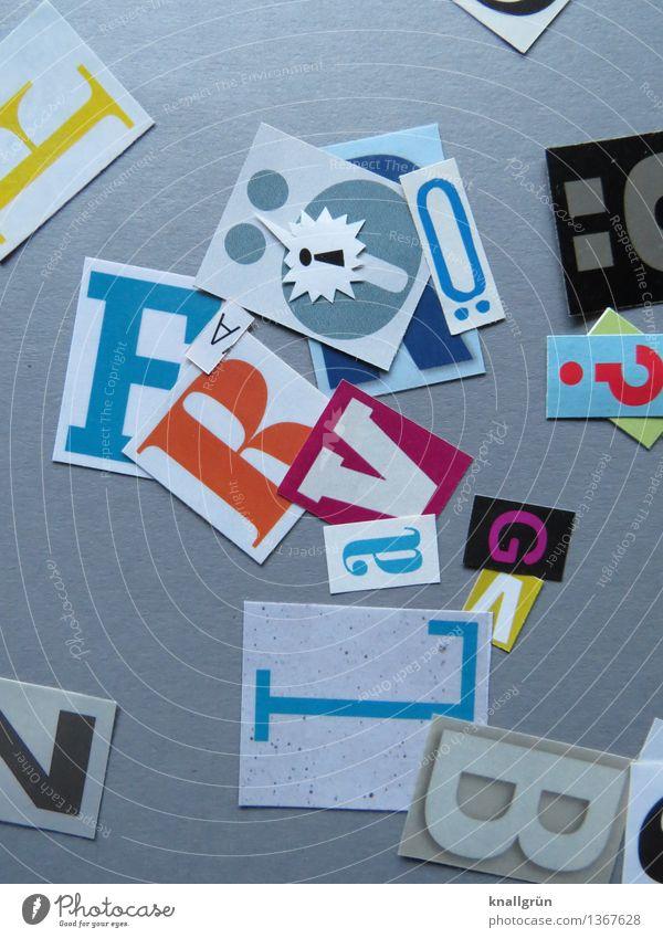 Ö! Sign Characters Communicate Sharp-edged Multicoloured Gray Idea Inspiration Creativity Latin alphabet Capital letter Question mark Exclamation mark umlaut