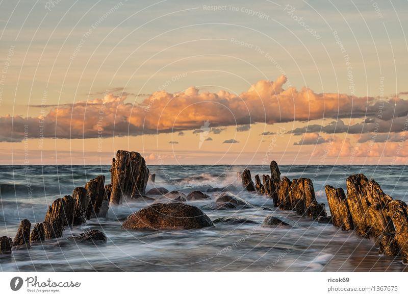 Baltic coast Relaxation Vacation & Travel Beach Ocean Nature Landscape Water Clouds Coast Baltic Sea Old Romance Horizon Idyll Calm Tourism Break water Sky