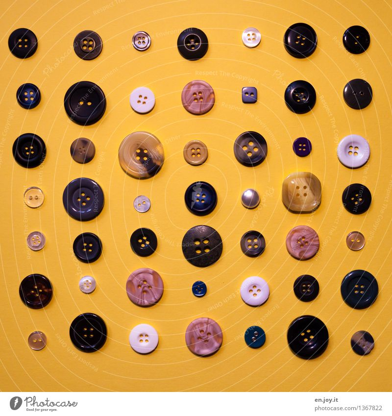 diversity Handcrafts Buttons Happiness Funny Round Yellow Accuracy Creativity Arrangement Precision Joy Symmetry Tailor Buttonhole Dry goods Difference