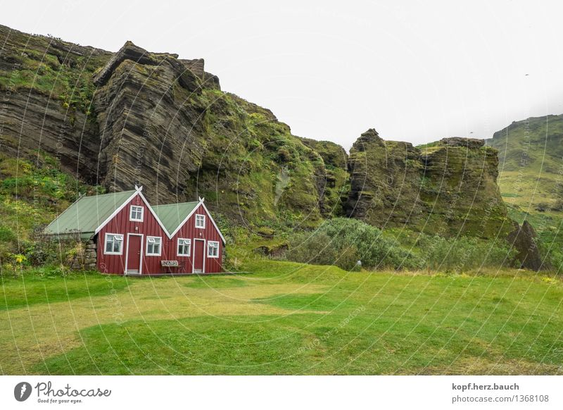 Nature Green Loneliness Landscape House (Residential Structure) Mountain Happy Exceptional Freedom Living or residing Beginning Joie de vivre (Vitality) Uniqueness Adventure Protection Infinity