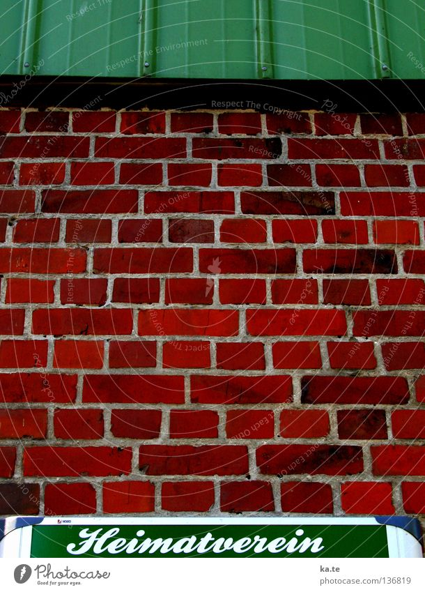 Green Red Calm House (Residential Structure) Wall (building) Wall (barrier) Together Flat (apartment) Information Farm Village Idyll Serene Brick Agriculture