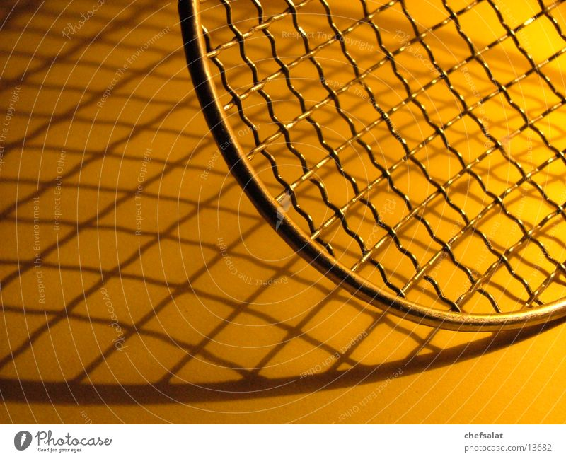 Yellow Kitchen Grid Reticular Sieve