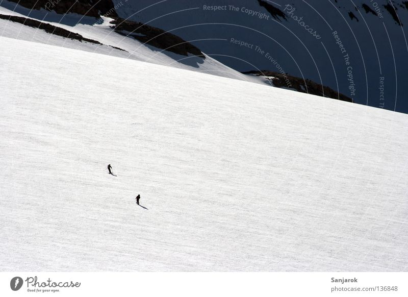 Snow Mountain Ice Skiing Glacier Expressway exit High mountain region