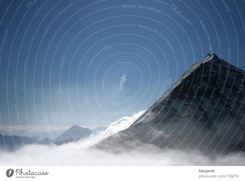 Winter Clouds Far-off places Snow Mountain Freedom Air Fog Weather Rock Tall Level Clarity Alps Peak Austria