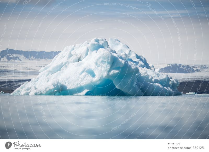 iceberg Vacation & Travel Tourism Adventure Nature Landscape Elements Water Sky Horizon Climate Climate change Ice Frost Mountain Snowcapped peak Glacier