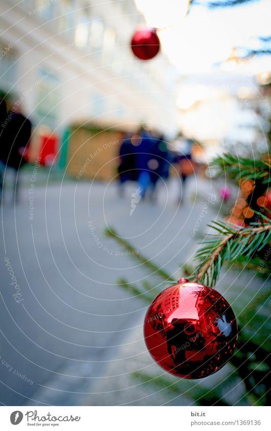 City Christmas & Advent Red Feasts & Celebrations Contentment Trip Joie de vivre (Vitality) Christmas tree Santa Claus Glitter Ball Christmas decoration