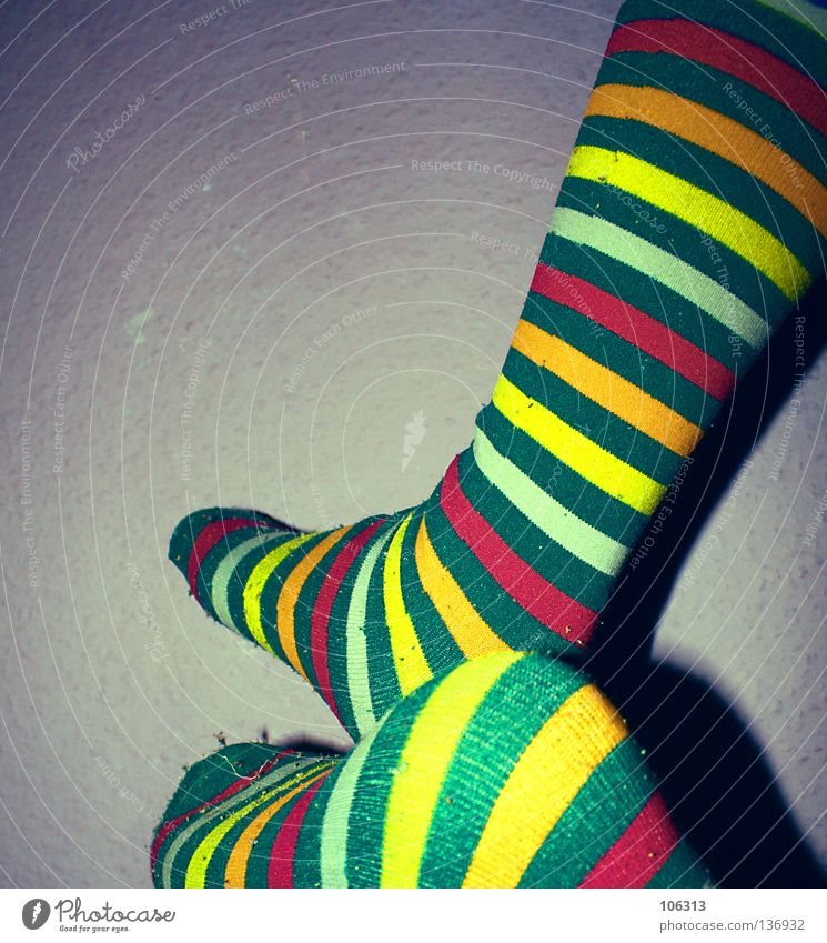 MORE LSD Stripe Multicoloured Stockings Striped socks Colour Feet rink socks