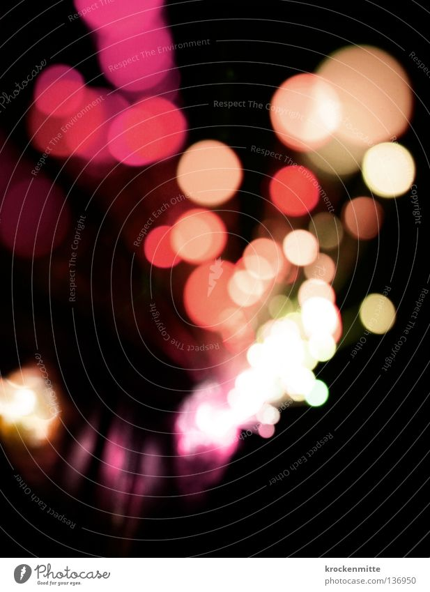 Red Colour Yellow Lamp Pink Circle Point Night Way out Night life
