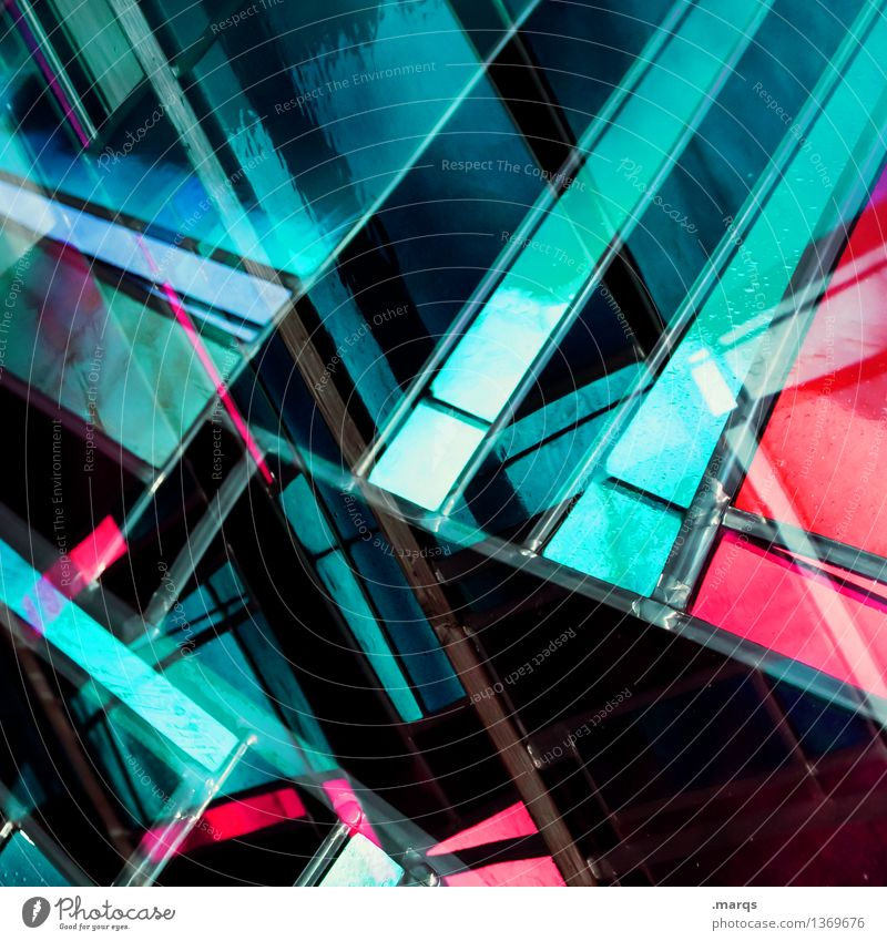 there´s a light Lifestyle Elegant Style Design Window Glass Line Stripe Exceptional Cool (slang) Hip & trendy Uniqueness Modern Crazy Pink Black Turquoise