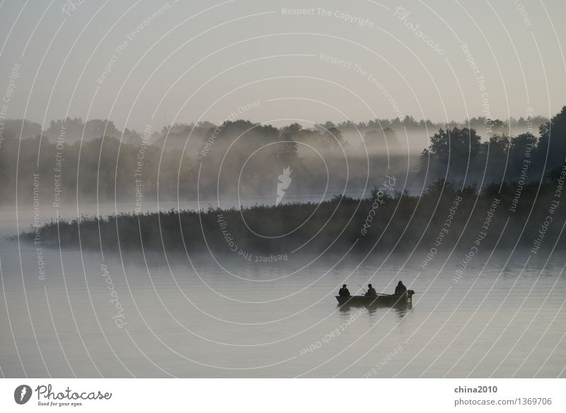 rest Nature Landscape Water Fog Lakeside Relaxation Sit Moody Peaceful Calm Wisdom Endurance Loneliness Contentment Leisure and hobbies Stagnating Tourism