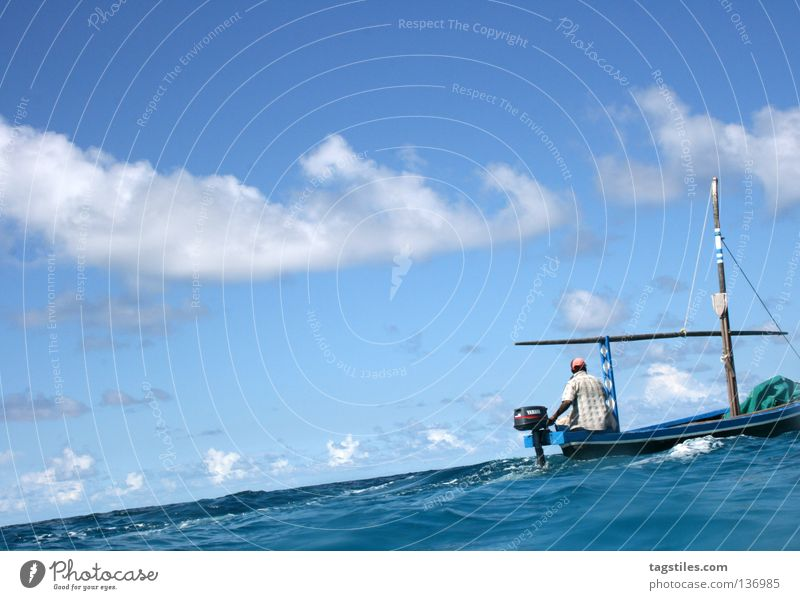 Man Water Ocean Summer Beach Vacation & Travel Dream Watercraft Industry Driving Asia India Maldives