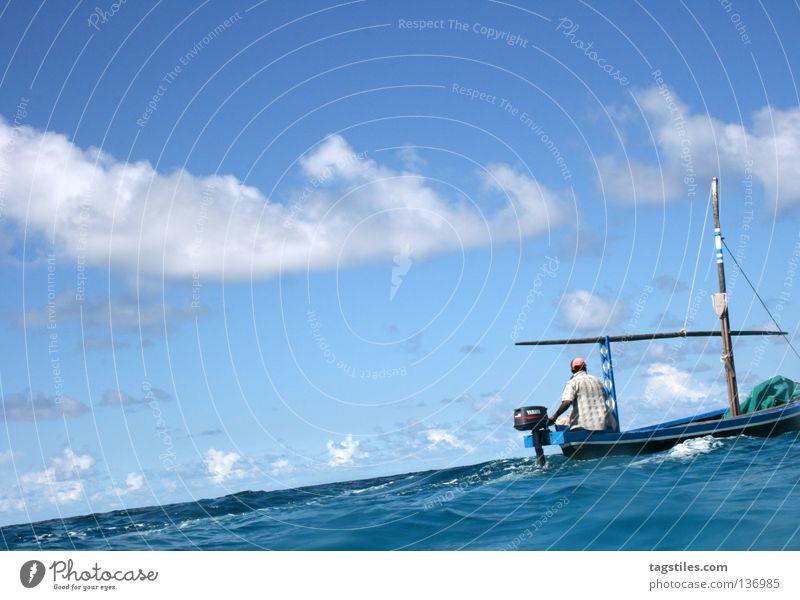 Man Water Ocean Summer Beach Vacation & Travel Dream Watercraft Industry Driving Asia India Maldives