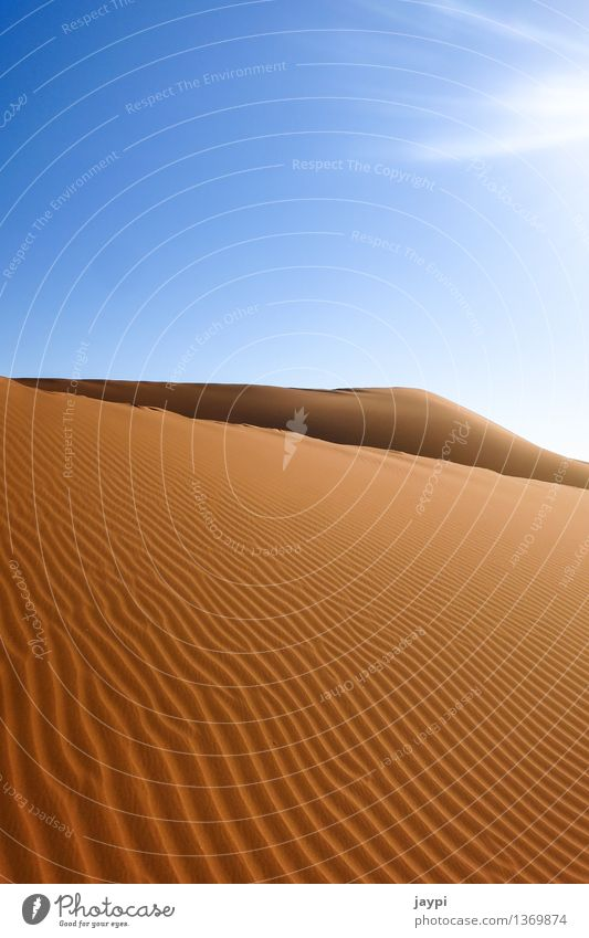 Sky Nature Blue Beautiful Landscape Calm Environment Moody Sand Orange Large Simple Infinity Hill Dry Desert