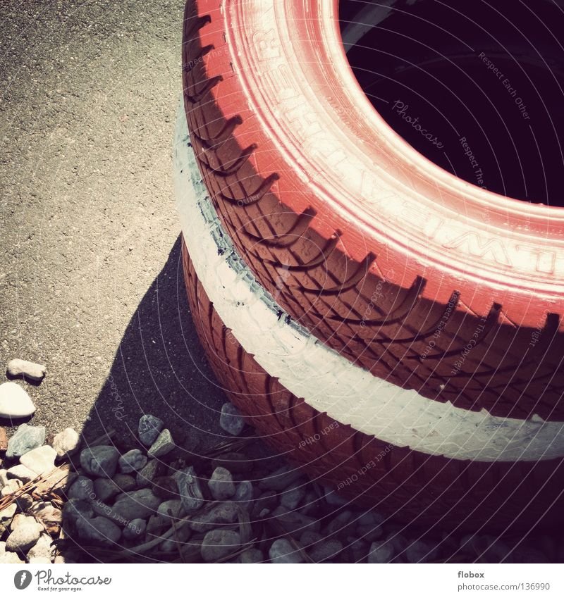 White Red Stone Wall (barrier) Car Signs and labeling Energy industry Beginning Speed Dangerous Floor covering Safety Threat Industry Round Target