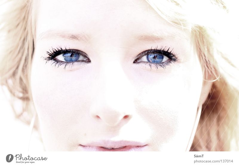 Woman Blue White Beautiful Red Ocean Eyes Earth Dream Bright Blonde Pink Exceptional Sweet Lips Fantastic