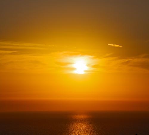 the sky mediterranean red sea Calm Vacation & Travel Summer Sun Ocean Island Waves Wallpaper Nature Landscape Sky Clouds Horizon Coast Hot Yellow Gold Red Black
