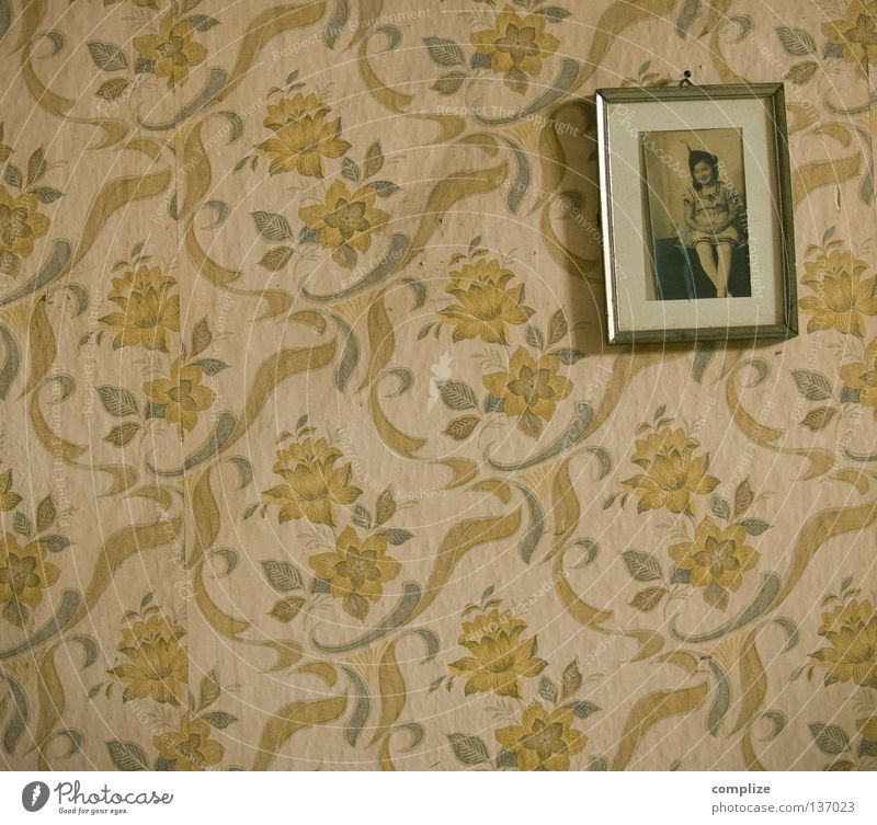 Old Flower House (Residential Structure) Loneliness Lanes & trails Room Photography Fear Flat (apartment) Design Pattern Retro Broken Floor covering Decoration