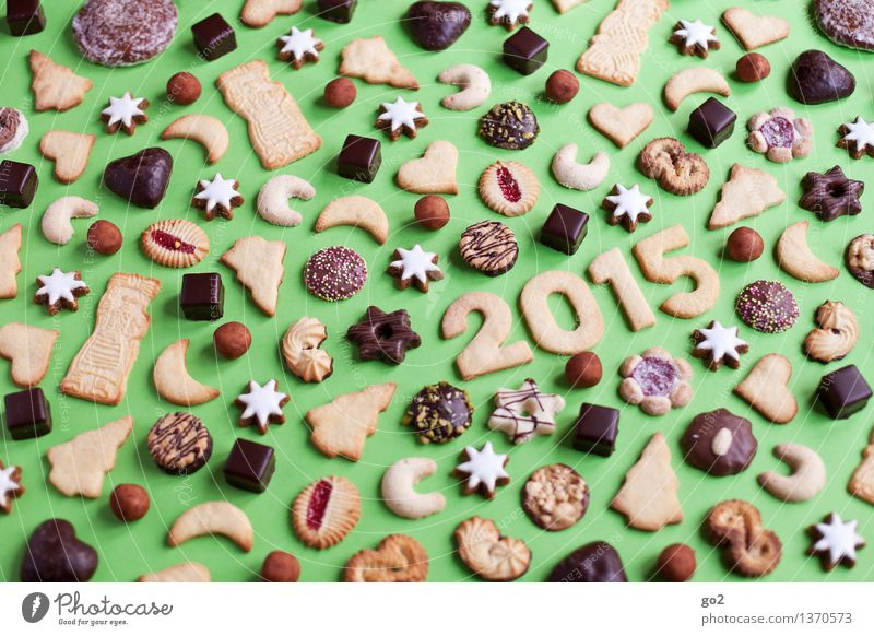 Christmas & Advent Green Eating Happy Feasts & Celebrations Brown Characters Esthetic Nutrition To enjoy Star (Symbol) Sign Many Delicious Candy Christmas tree