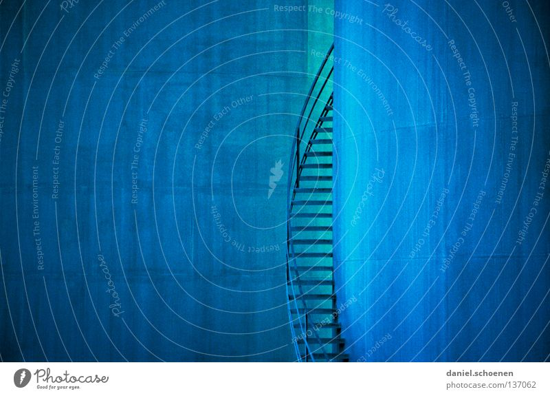 stairs, industry, port, blue, cyan, spiral staircase... Cyan Winding staircase Background picture Golden section Abstract Go up Oil Natural gas Progress