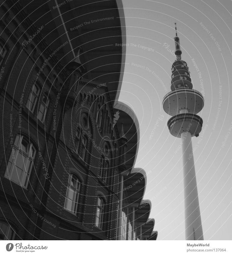 Old Architecture Modern Hamburg New Tower Roof Historic Landmark Converse Arch Radio technology Telecommunications Transmitting station Exhibition hall