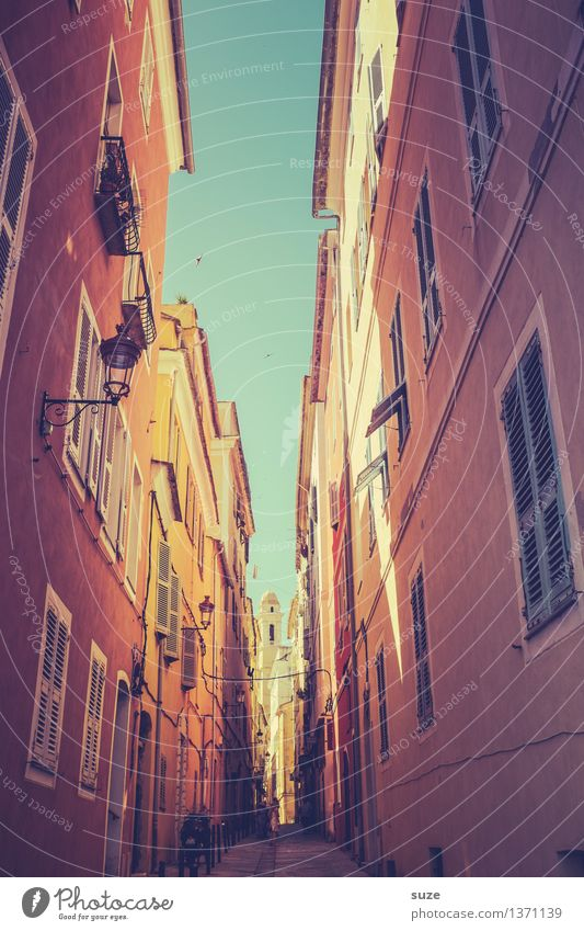In the alleys of Bastia Vacation & Travel City trip Summer Summer vacation House (Residential Structure) Culture Sky Warmth Small Town Facade Window Old