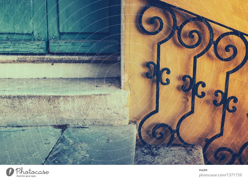 Á Mademoiselle Summer Living or residing House (Residential Structure) Decoration Life Stairs Door Old Esthetic Elegant Uniqueness Natural Feminine Yellow
