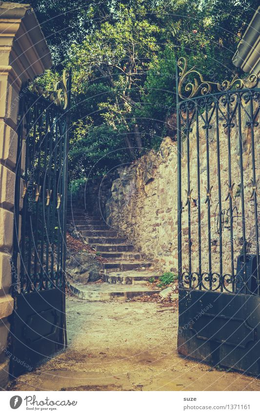 allure Vacation & Travel City trip Summer Summer vacation Culture Nature Warmth Garden Park Gate Stairs Decoration Old Exceptional Historic Uniqueness Curiosity