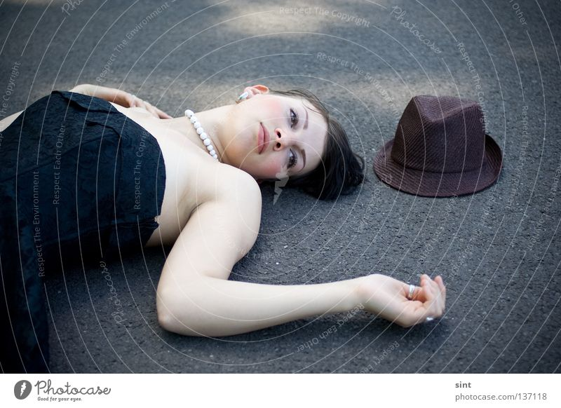 Woman Human being Beautiful Loneliness Street Beauty Photography Peace Lie Under Fatigue Hat Doomed Problem Needy Desolate