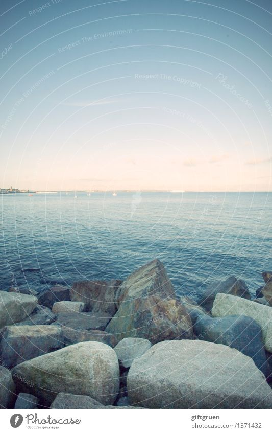 Stoned Environment Nature Landscape Elements Earth Water Sky Sun Weather Beautiful weather Waves Coast Beach Ocean Esthetic Natural Clean Stony Gravel
