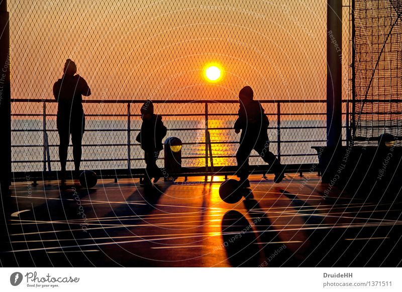 Human being Child Water Sun Ocean Joy Black Adults Yellow Spring Playing Happy Family & Relations Moody Dream Orange