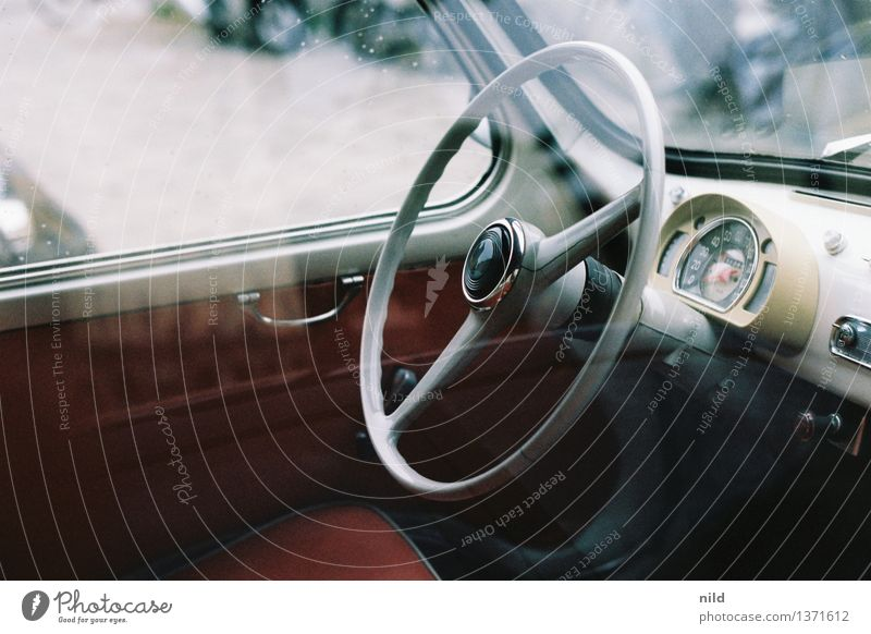 444 - Kilometer to Rome Lifestyle Elegant Style Design Transport Motoring Vehicle Car Vintage car Retro Dashboard Speedometer Steering wheel Furniture Past