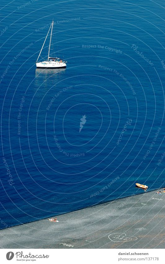 my beach, my boat; my sea, my.... Ocean Beach Sailboat Sailing Loneliness Waves Bird's-eye view Vacation & Travel Summer Wanderlust Coast Corsica White