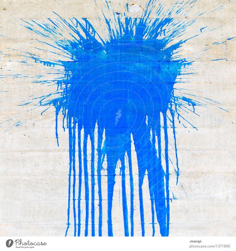 Blue Colour Dye Style Gray Design Concrete Patch Trashy Inject Daub