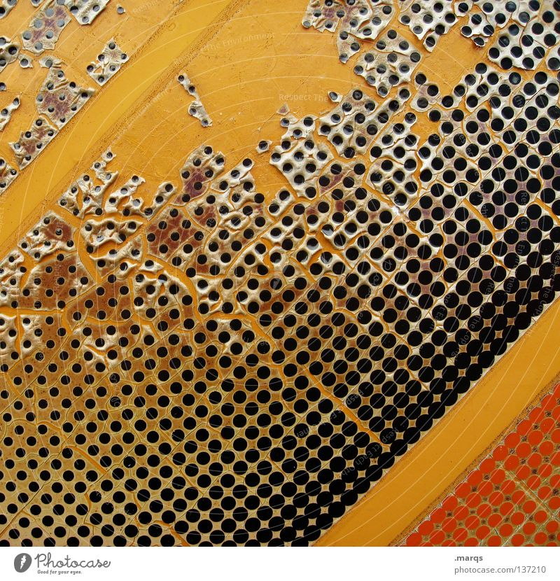 Black Yellow Colour Wall (building) Orange Dirty Background picture Round Broken Decoration Stripe Point Wallpaper Derelict Obscure Label