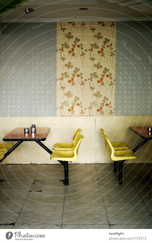 Relaxation Wall (building) Nutrition Empty Table To enjoy Places Retro Chair Delicious Gastronomy Appetite Living room Seating China Thirst