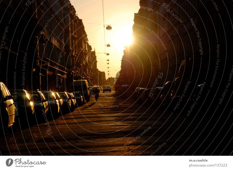 Sky Sun Street Car Dresden Longing Things Dazzle Celestial bodies and the universe Saxony
