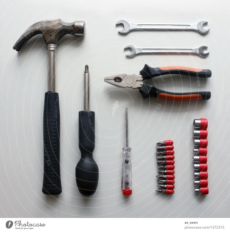 Red Black Metal Work and employment Flat (apartment) Leisure and hobbies Arrangement Construction site Plastic Craft (trade) Collection Still Life Sharp-edged Tool Silver Redecorate