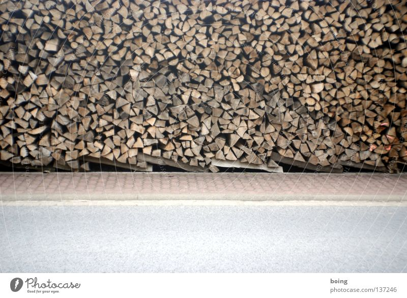 Winter Wood Sidewalk Fireplace Heat Firewood Stack of wood Lumber industry Frontier fortifications Charcoal burner Renewable raw materials Charcoal burning