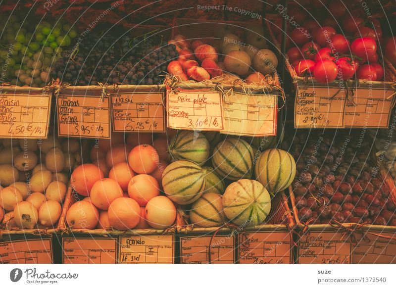 fruit stand Food Vegetable Fruit Orange Nutrition Vegetarian diet Healthy Eating Vacation & Travel Tourism City trip Summer Authentic Fresh Delicious Europe