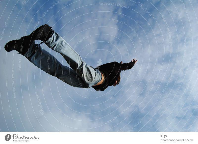 flies Jump Hop Weightlessness Joy Flying To fall Free Fall Sky