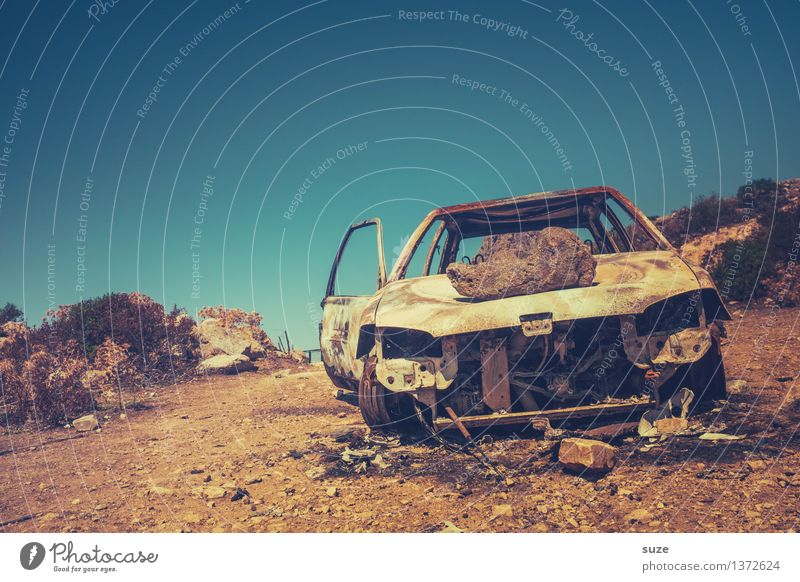 Sky Nature Old Summer Travel photography Environment Warmth Time Car Dirty Retro Broken Picturesque Past Rust France