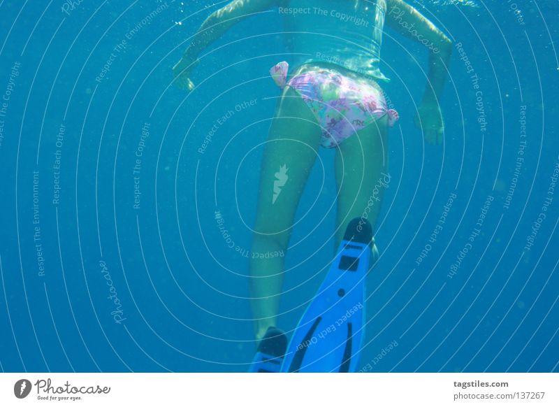 Woman Water Beautiful Ocean Blue Summer Vacation & Travel Relaxation Waves Skin Bottom Asia Dive Part Bikini