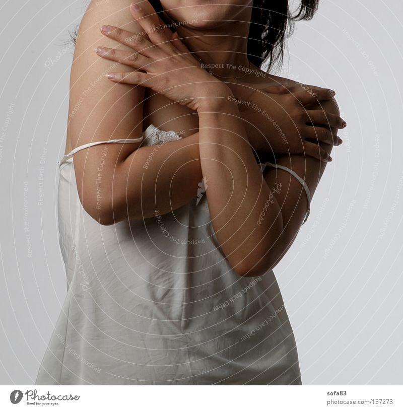 Woman Hand Beautiful Eroticism Model To hold on Shirt Transparent Extract Torso Undershirt Underwear