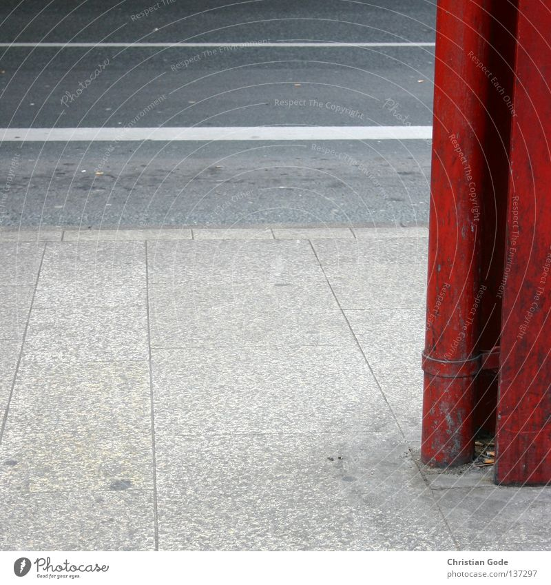 White Red Black Street Going Walking Wait Signs and labeling Concrete Transport Railroad Bridge Driving Asphalt Sidewalk Steel