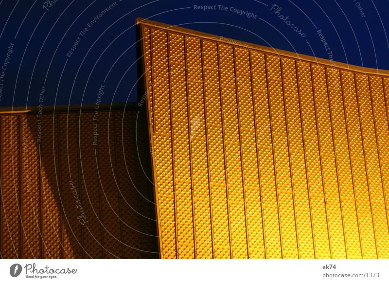 Yellow Berlin Lighting Architecture Gold Berlin Philharmonic