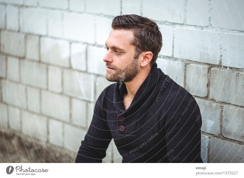 shades Masculine Young man Youth (Young adults) Adults 1 Human being 18 - 30 years Brunette Facial hair Designer stubble Cool (slang) Hip & trendy Beautiful