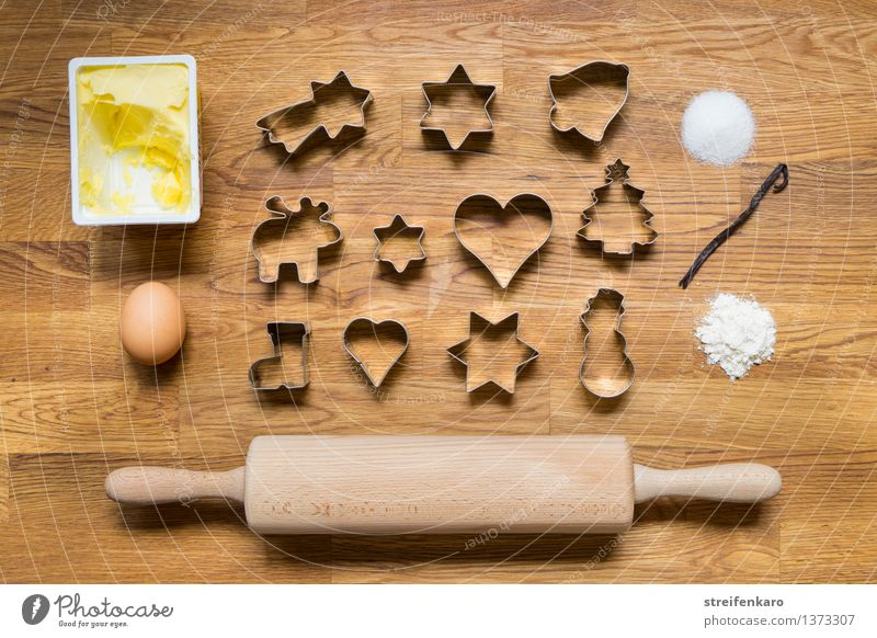 Christmas Bakery I Dough Baked goods Candy Flour Sugar Cinnamon Butter Egg Leisure and hobbies Rolling pin cut out cookies Figure Eating Delicious Sweet Joy