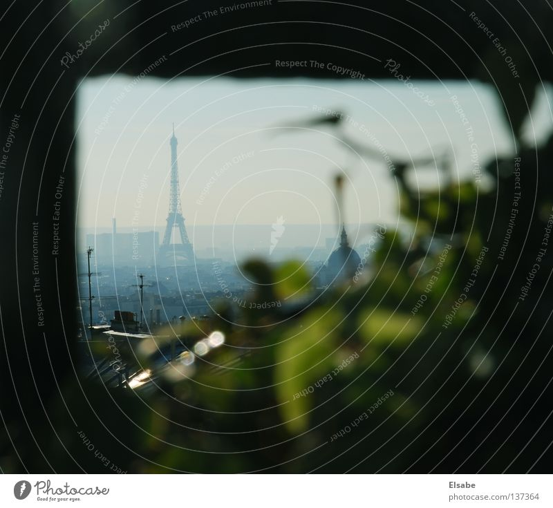 Sky City Summer Plant Window Warmth Fog Large Living or residing Roof Vantage point Physics Balcony Paris Monument France