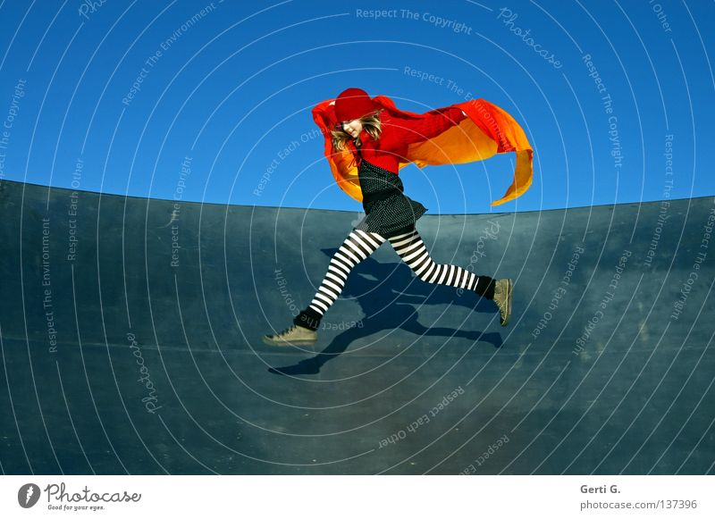 jump mouse Joie de vivre (Vitality) Energized Exuberance Contentment Splits Jump Striped Tights Pippi Longstocking Little Red Riding Hood Baseball cap Headwear